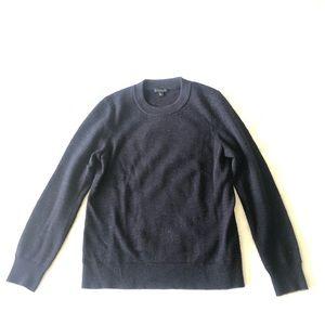 COS navy blue merino wool crewneck sweater S